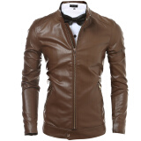 Leather & Faux Leather-Zogaa New Korean Men's Leather Fashion Slim on JD