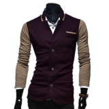 Jackets & Coats-Zogaa New Fashion Casual Korean Men's Suit Color Matching on JD