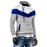 Hoodies-Zogaa New Spring Men's Hoodie Color Matching Pullover Slim Sports on JD