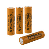 -4pcs 3.7V 18650 9900mAh Li-ion Rechargeable Battery For Flashlight Torch on JD
