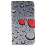 Phone Accessories-Heart-shaped waterdrop Design PU Leather Flip Cover Wallet Card Holder Case for SAMSUNG GALAXY J1 on JD