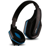 Phone Accessories-OVANN X1-S Head-wearing Single Hole Computer Game Headphone Laptop Cellphone Computer Headphone Microphone Black Blue on JD