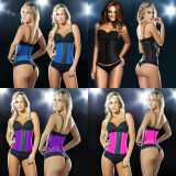 Corset-Women Fashion Waist Trainer training corsets Bodice 100% Latex Shapewear Bodysuit Cincher on JD