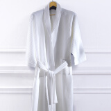 Bedding & Bath-[Jingdong supermarket] Lan Syria (LENCIER) bathrobes home five-star hotel couple spring and summer bathrobes pure cotton soft absorbent men and women universal blue edge L on JD
