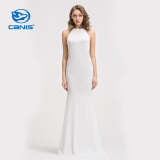 Dresses-CANIS@Fashion Women's Sexy White Bandage Sleeveless Maxi Long Dress on JD