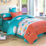 Bedding & Bath-Jiuzhou deer textile cotton four sets of bedding on JD