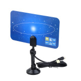 Network Products-Digital Indoor TV Antenna HDTV DTV Box Ready HD VHF UHF Flat Design High Gain on JD