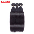 Allrun Straight Brazilian 3 bundles Virgin Hair Straight Human Hair Weave 7A Unprocessed Virgin Brazilian Straight Hai