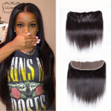 CCollege Hair Products 8A  Lace Frontal  Brazilian Virgin Hair Straight  Frontal With Natural Hair 100% huamn hair  Free Shipping