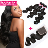 8A Brizilian Virgin Hair Body Wave 3 Piece With Closure Unprocessed Virgin  Hot Fashion Company Brazilian Body Wave Hair On Sale