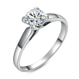 Yoursfs® 18K Rose Gold Plated 1.2Ct Simulated Diamond Promise Ring Use Austrian Crystal Fashion Jewelry