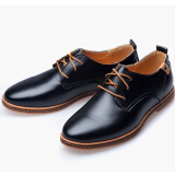 Casual Leather Men Business Shoes Leather Oxford Shoes  (US Size 6-13, Brown, Black,Blue)
