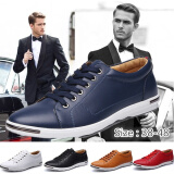 New  Hot 2017 Men's Fashion Leather Oxford Shoes Casual Flats Shoes business Shoes Plus Size 38-48