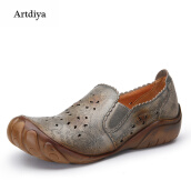 Flats-Artdiya 2018 Spring New Five-fingered Slacker Shoes First Layer Leather Hand-brushed Old-color Handmade Women's Shoes F89-606 on JD