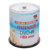 Blank Disks-Maxell DVD + R 16 speed 4.7G domestic pearl white barrels 100 burner discs on JD
