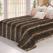Blankets & Throws-220*240cm leisure PV fleece blanket  on JD