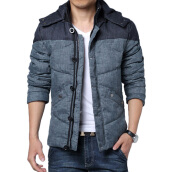Jackets Куртки-CT&HF Men Casual Fashion Silm Coat Korea Thickening High Quality Stitching Long-Sleeved Jacket Sports Style Handsome Coat on JD