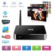 Set Top Box-Xsbox RK3368 - Android 5.1 Lollipop Smart TV Box, Octa Core&64BITS RK3368 Cortex-A53 - Kodi Isengard 15.1 1g/8g Metal Tv Box on JD