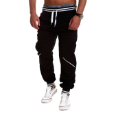 Casual Pants-Zogaa New Men's Pants Splice Sports Casual Contrast Color on JD