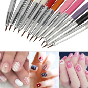 Hair Clippers & Trimmers Машинки для стрижки волос-12Pcs Colourful Nail Art Painting Drawing Pen Polish Brush Kits DIY Pro on JD