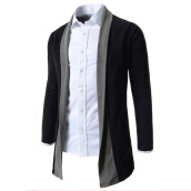 Cardigans-Zogaa New Men's Cardigan Color Matching Casual on JD