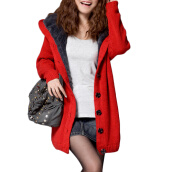Cardigans-CT&HF Women Cardigan Winter Clamp Down Loose Sweater Coat on JD