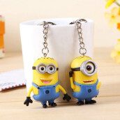 Fine Jewelry-2Pcs Despicable Me 3D Eyes Minions Rubber Key Ring Key Chain Cute Toy Gift on JD