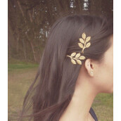 Hair Accessories-Fashion Lovely Gold Plated Five Leaves Hairpin Hair Clip Bride Hairclip   2PCS on JD