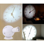 Furniture Décor-New LED Analogue Projection Wall Clock Light Beam Virtual Shadow Home Bedroom WHITE on JD