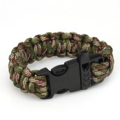 Traditional Necklace/Anklet-550 Paracord Outdoors Survival Rope Escape Emergency Bracelet Wristband Bracelet  CAMOUFLAGE on JD