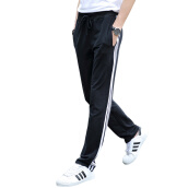 Sweatpants-(MSEK) XK3182 men's casual pants fashion Korean version of the pants blue white bars XXXL on JD