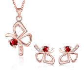 Jewelry Sets-S085  Fashion 18K environmental alloy anti allergy zircon jewelry set on JD
