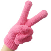 Gifts-Shuxiang women gloves Stylish Hand Warm Winter Gloves Wool Rose Pink on JD