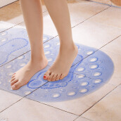 Area Rugs & Doormats-[Jingdong supermarket] rich home (FOOJO) bathroom mats hydrophobic non-slip mat 68 * 37cm transparent white on JD