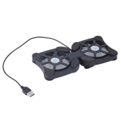 Notebook Coolers-Mini USB Port Cooling Pad With 2 Fans Cooler for 7-15' Notebook Laptop on JD