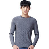 Cardigans-DANCING WOLVES Long Sleeve Men's Sweater 679502922 Navy 180 / 96A on JD