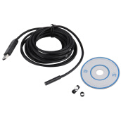 Webcams-7mm 6 LED USB Waterproof Endoscope Borescope Tube Inspection Video Camera 5M on JD