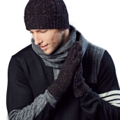 Scarf, Hat & Glove Sets-[Jingdong Supermarket] Kammont (Kenmont) km-2808 men's wool winter cycling warm gloves dark gray on JD