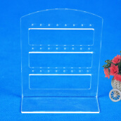Clip Earrings-24 Holes Earring Jewelry Show Plastic Display Rack Stand Organizer Holder on JD