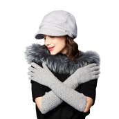 Scarf, Hat & Glove Sets-[Jingdong supermarket] Karman (Kenmont) km-2801 autumn and winter outdoor ladies long sleeve thickening warm gloves finger gloves on JD