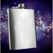 Bar Tools & Glasses-8 oz Liquor Stainless Steel Pocket Hip Flask Screw Cap 460263 on JD