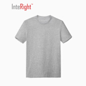 Tops-INTERIGHT  refreshing net color cotton T shirt black L code on JD