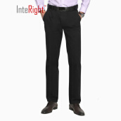 Casual Pants-INTERIGHT Slim Men's Business Casual Pants Navy 32 yards on JD