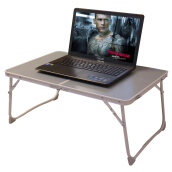 Home Office Furniture-New Yuechang outdoor portable folding small table large notebook computer desk learning desk bed desk dormitory lazy folding table apple green ZL64 on JD