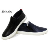 Men's Loafers & Slip-Ons-jiabaisi men casual shoes Breathable loafers chaussure homme shoes men Comfort solid mens shoes Genuine Cow leather men shoes on JD