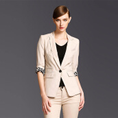 Suiting & Blazers-Marc Rebecca (Marc Rebecca) a buckle seven-point sleeve small suit jacket 45437A apricot M code on JD