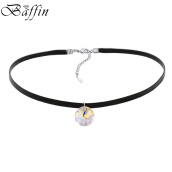 Choker Necklaces-BAFFIN Simple Round Crystals From SWAROVSKI Elements Choker Necklace Rope Chain Bib Necklaces For Women Vintage Jewelry Gift on JD