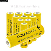 Electronic Accessories-MJKAA® 10pcs 1.2V Ni-MH AA 2300mAh Rechargeable Battery 2A Neutral Battery Rechargeable battery AA batteries For toys camera on JD