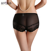 Bottoms-Women Sexy Panties Lace Seamless king size Underwear Full transparency sexy Hollow taste Pants on JD