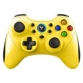 Game Controllerss & Steering Wheels-Rapoo V600S Wireless Vibration Gamepad Phone Handset Android / PC / Smart TV / PS3 King glory handle yellow on JD